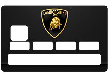 Sticker CB Lamborghini pour carte bancaire