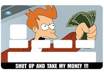 Sticker CB Futurama pour carte bancaire