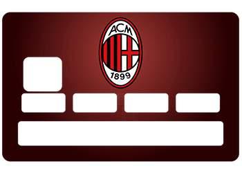 Sticker CB AC Milan pour carte bancaire