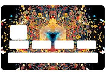 Sticker CB Mandala pour carte bleue