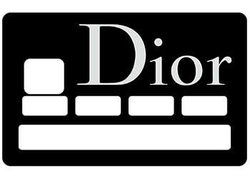 Sticker CB Dior pour carte bancaire