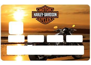 Autocollant CB Harley pour carte bleue