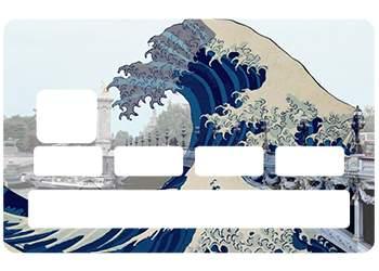 Sticker CB Hokusai Paris pour carte bancaire