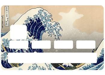 Sticker CB Hokusai pour carte bancaire