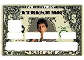 Sticker CB Scarface pour carte bancaire