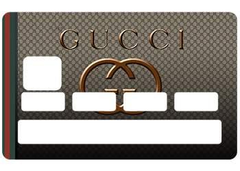 Autocollant Gucci pour carte bleue