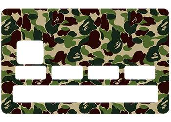 Sticker carte bleue camouflage