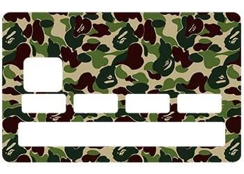 Sticker carte bleue camouflage