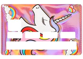 Sticker Licorne pour carte bancaire