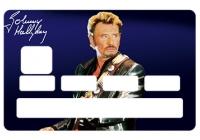Sticker carte bleue Johnny Hallyday