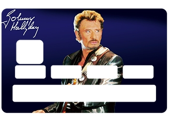 Sticker carte bleue Johnny Hallyday