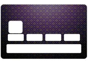 """Sticker """"Fleur de Lys"""" pour carte bancaire"""