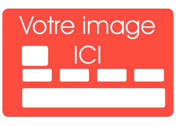 Sticker carte bleue sur mesure