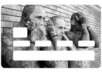 Autocollant Men Tattoo pour carte crédit