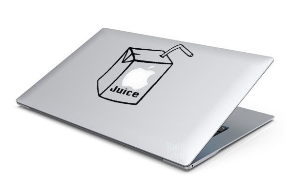 Sticker MacBook Jus de Pomme