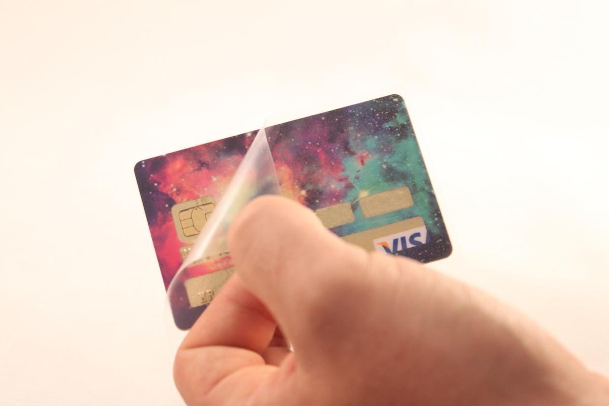 Sticker carte bancaire étape 5